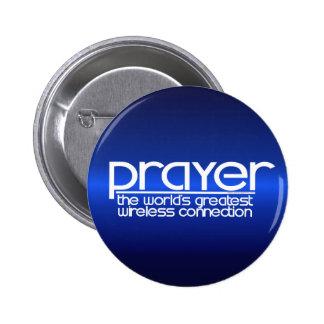 PRAYER 6 CM ROUND BADGE