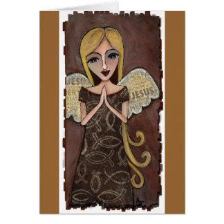 Prayer Angel - greeting card