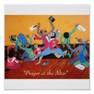 """Prayer at the Altar"" Poster"