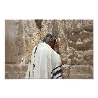 Prayer at the Wailing Wall Photograph