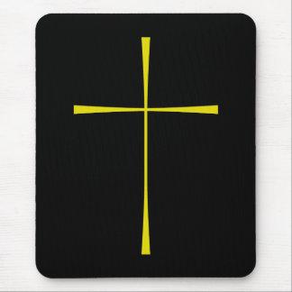 Prayer Book Cross Gold Mouse Mat