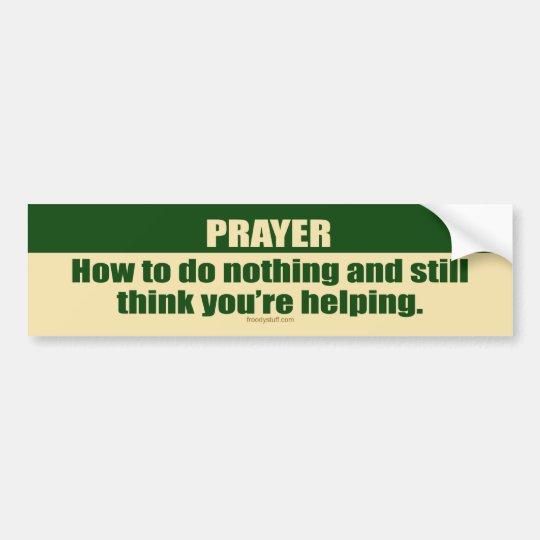 Prayer Bumper Sticker