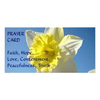 PRAYER CARD Spring Yellow Daffodil Flower Customized Photo Card