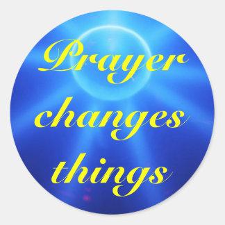 Prayer changes stickers