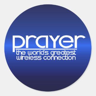 PRAYER CLASSIC ROUND STICKER