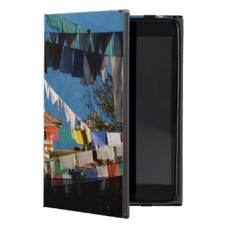 Prayer flags and chortens cover for iPad mini