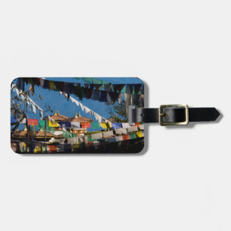 Prayer flags and chortens luggage tag