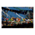 Prayer flags and chortens poster