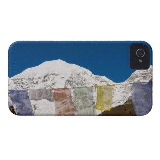 Prayer flags and Mount Jhomolhari, Bhutan. iPhone 4 Cases