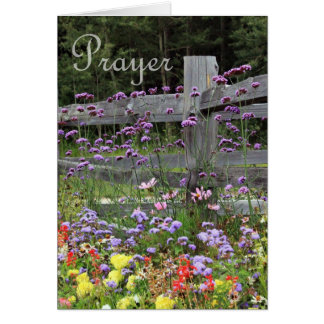 Prayer Flowers Greeting Card