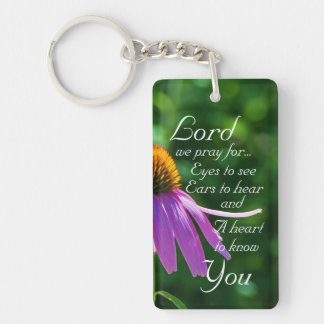 Prayer for Eyes to See and Ears to Hear Custom Double-Sided Rectangular Acrylic Key Ring