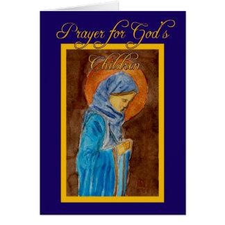 Prayer For God's Children Card