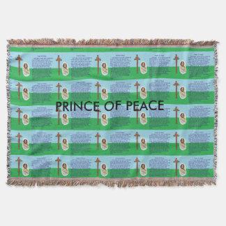 Prayer for Peace Throw Blanket