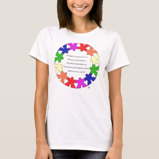 "Prayer for Protection in ""hands and hearts"" circle T-Shirt"