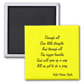 Prayer for relief square magnet