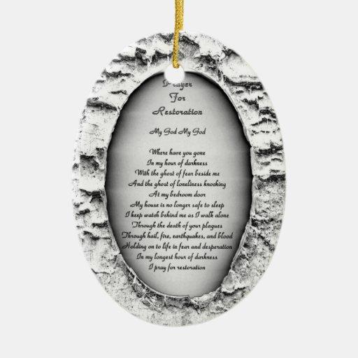 Prayer for Restoration Ornaments