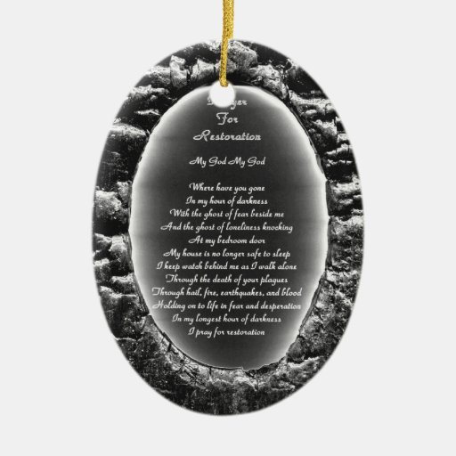 Prayer for Restoration Christmas Tree Ornament