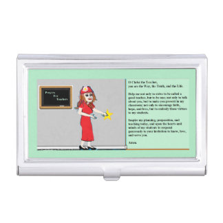 Prayer for Teachers Business Card Holder
