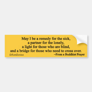 Prayer for the Sick Bumper Sticker