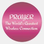 PRAYER - Greatest Wireless Connection Round Sticker