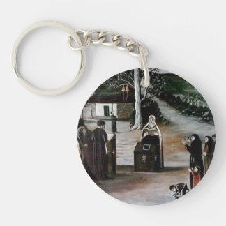 Prayer in a Village by Niko Pirosmani Acrylic Keychains
