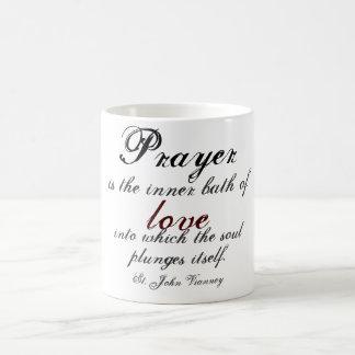 Prayer is the inner bath of love basic white mug