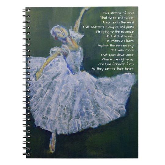 Prayer journal with ballerina & poetry