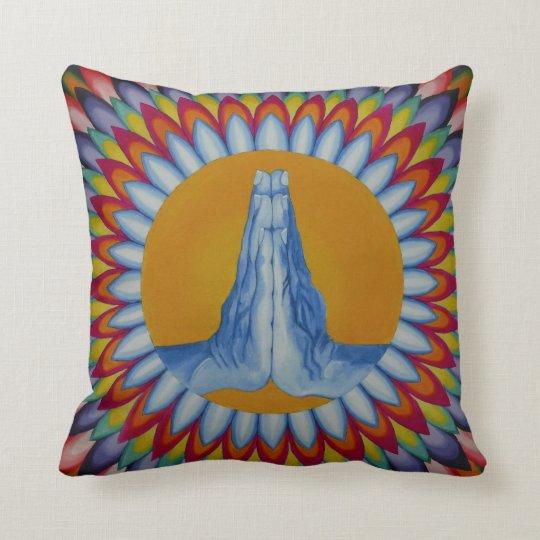 Prayer Mountain Throw Pillow