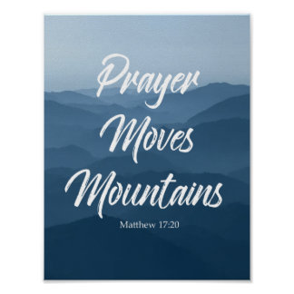PRAYER MOVES MOUNTAINS WALL ART