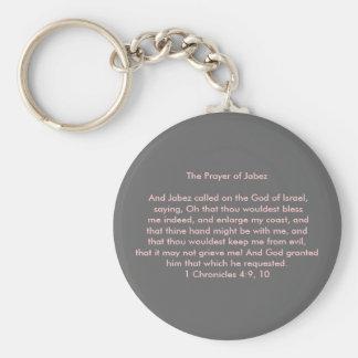 Prayer of Jabez Basic Round Button Key Ring