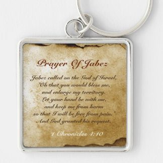 Prayer of Jabez Bible Verse Keychain