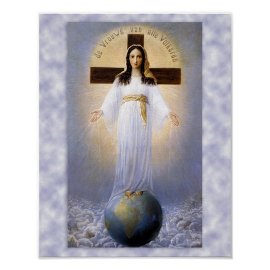 Prayer of Our Lady of all Nations Poster