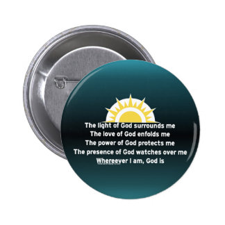 Prayer of Protection 6 Cm Round Badge