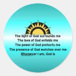 Prayer of Protection Round Sticker