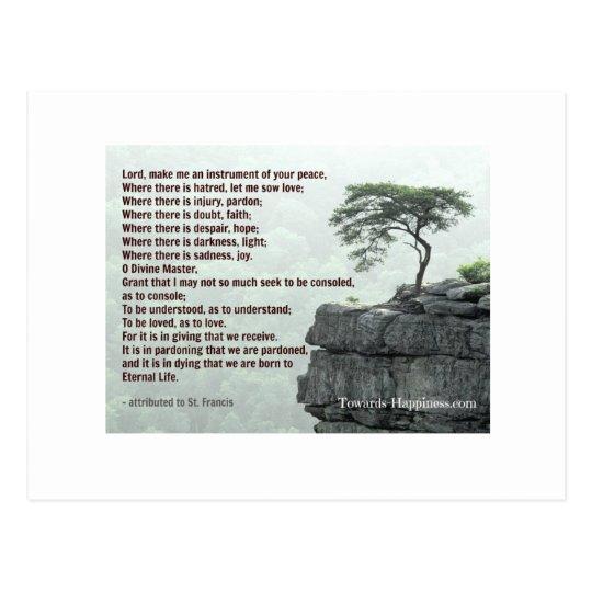Prayer of Saint Francis postcard