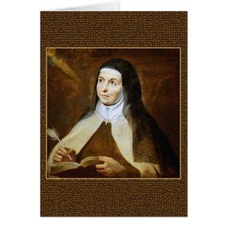 Prayer of Saint Teresa of Avila Greeting Card