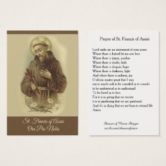 Prayer of St. Francis of Assisi Holy Card