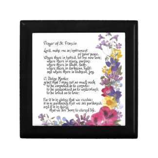 Prayer of St. Francis Small Square Gift Box