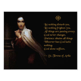 Prayer of St. Teresa of Avila Poster