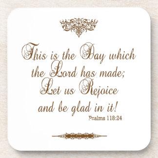 Prayer of Thanks for Victory Custom Coaster