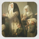 Prayer of the Children Suffering from Ringworm Square Sticker