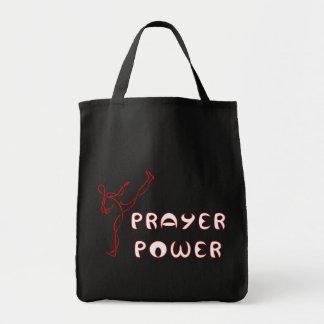 Prayer Power cloth tote bag