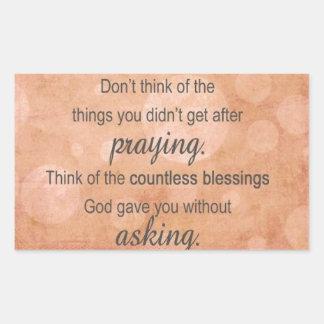 Prayer Rectangular Sticker