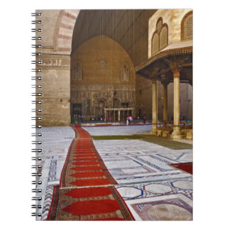 Prayer rugs leading into Islamic mosque, Cairo, Notebook