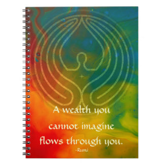 Prayer Rumi and Poetic Art Notebook