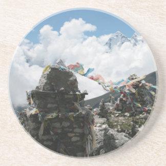 Prayer Stones in Nepal Coaster