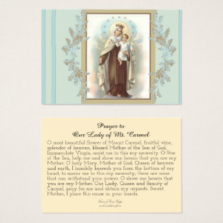 Prayer to Our Lady of Mount Carmel Business Card