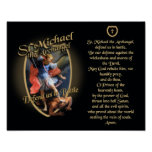 PRAYER TO SAINT MICHAEL THE ARCHANGEL POSTER