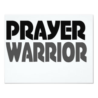 prayer warrior 11 cm x 14 cm invitation card