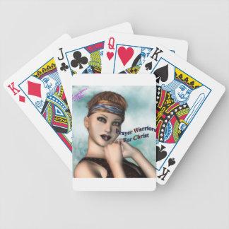 Prayer Warrior Bicycle Playing Cards